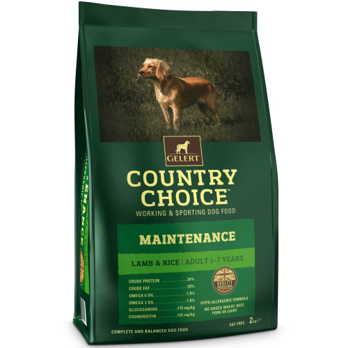 Gelerts Country Choice Maintenance Lamb & Rice Adult Dog Food