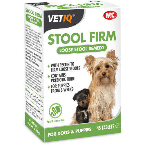Mark & Chappell VetIQ Stool Firm Tablets for Dogs