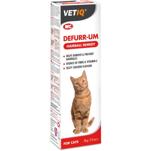 Mark & Chappell VetIQ Defurr Um Hairball Remedy Paste for Cats 70g