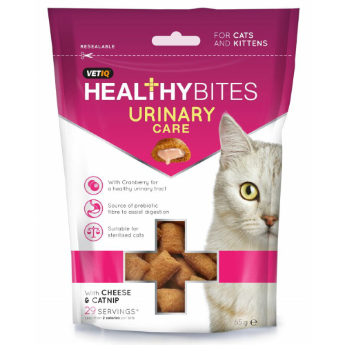 Mark & Chappell VetIQ Healthy Bites Urinary Care Cat Treats 65g