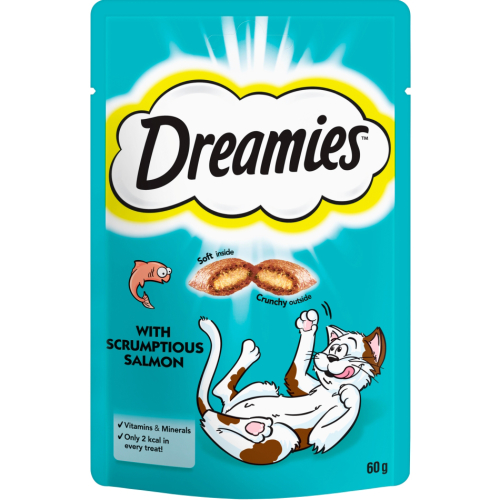 Dreamies Saver Packs Cat Treats 60g Salmon x 8