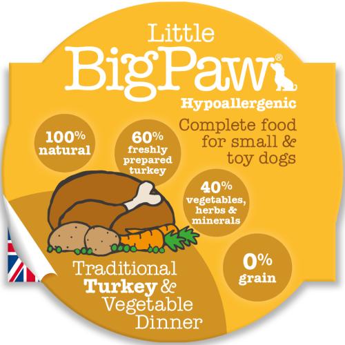 Little Big Paw Traditional Turkey & Veg Dinner Dog Food