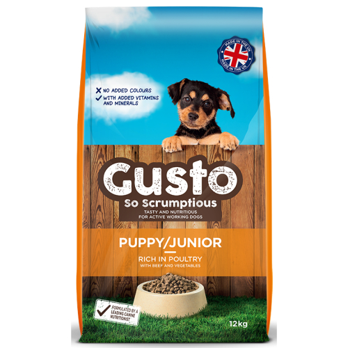 Gusto Complete Puppy & Junior Dog Food