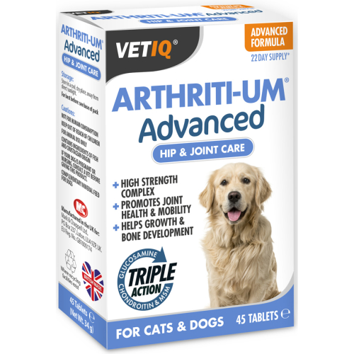 Mark & Chappell VetIQ Arthiriti-Um Advanced Tablets for Dogs 45 Tablets