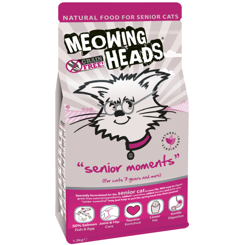 Meowing Heads Senior Moments Adult Cat Food