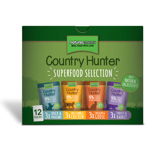 Natures Menu Country Hunter Superfood Selection Adult Cat Pouches 85g x 60