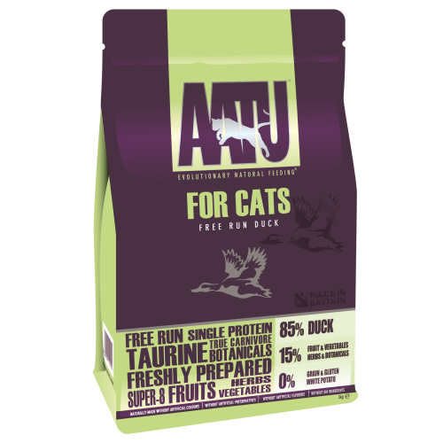 AATU 85/15 Duck Adult Cat Food 3kg x 2