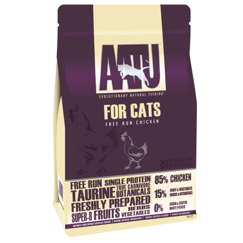 AATU 85/15 Chicken Adult Cat Food 3kg x 2