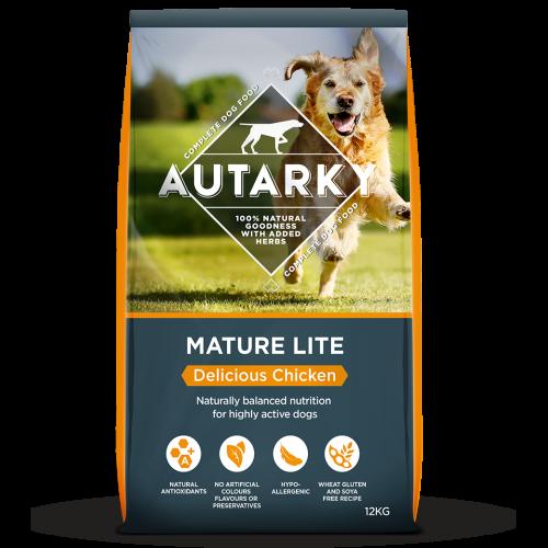 Autarky Chicken Dinner Mature Lite Dog Food 12kg x 2