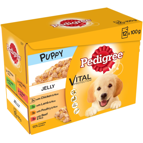 Pedigree Mixed Selection in Jelly Wet Puppy Dog Food 100g x 12