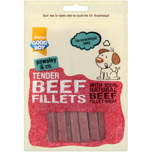 Good Boy Pawsley & Co Tender Beef Fillets Dog Treats