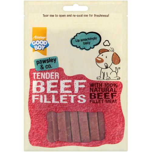 Good Boy Pawsley & Co Tender Beef Fillets Dog Treats