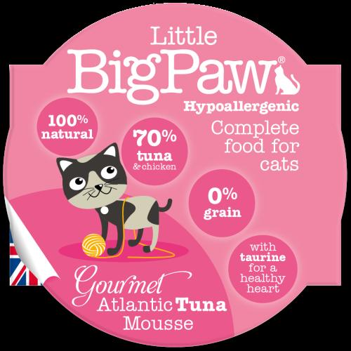 Little Big Paw Gourmet Atlantic Tuna Mousse Cat Food 85g x 8