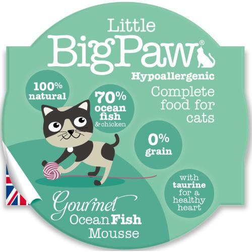 Little Big Paw Gourmet Ocean Fish Mousse Cat Food