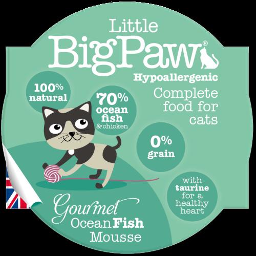 Little Big Paw Gourmet Ocean Fish Mousse Cat Food 85g x 8