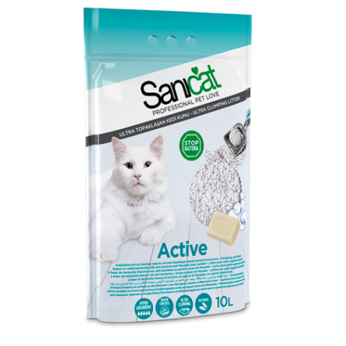 Sanicat Active Clumping Cat Litter 10 Litres