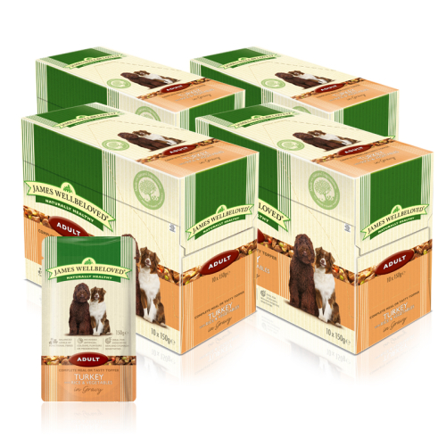 James Wellbeloved Turkey & Rice Adult Dog Pouches