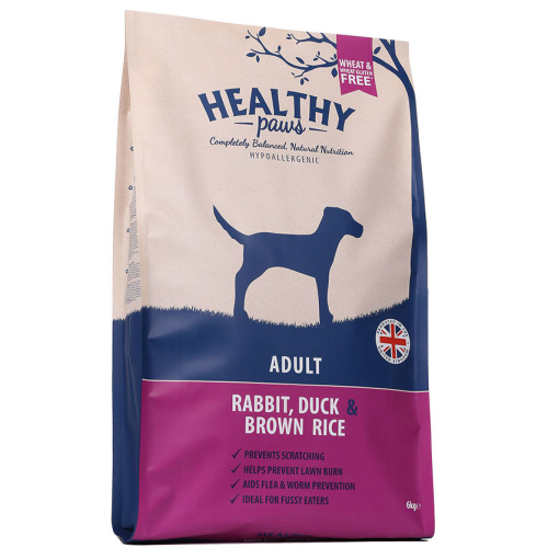 Healthy Paws Adult Rabbit Duck & Brown Rice Dog Food 6kg
