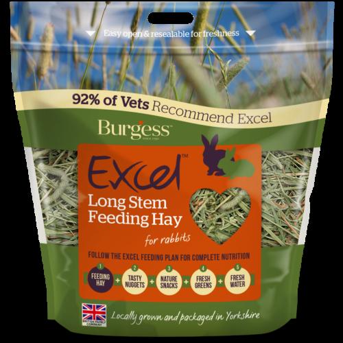 Burgess Excel Long Stem Rabbit Feeding Hay 1kg