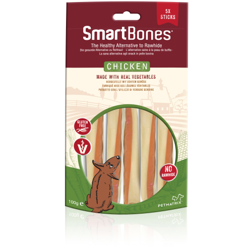 SmartBones Chicken Smartsticks Dog Treats 100g x 3
