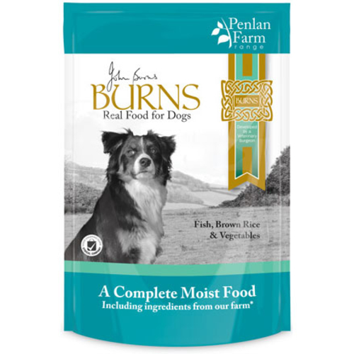 Burns Penlan Farm Fish Brown Rice & Veg Moist Dog Food 150g x 12