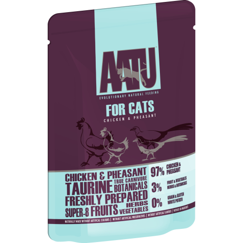 AATU For Cats Chicken & Pheasant Wet Pouches