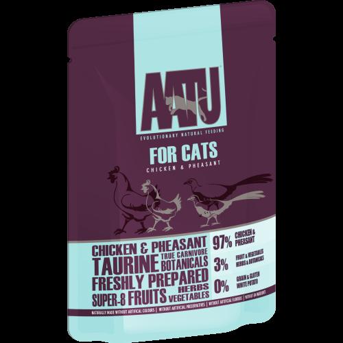 AATU For Cats Chicken & Pheasant Wet Pouches 85g x 48