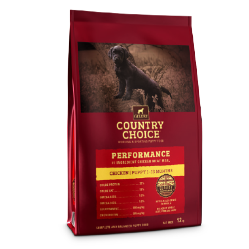 Gelert Country Choice Performance Puppy Food 12kg x 2
