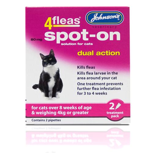 Johnsons 4 Fleas Spot On Cat & Kitten