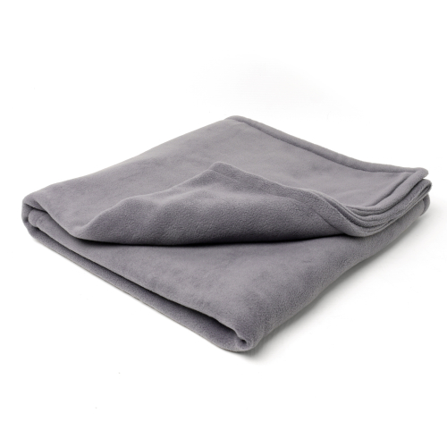 Charley Chau Double Fleece Smoke Grey Dog Blanket
