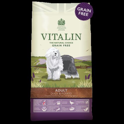 Vitalin Natural Duck & Potato Large Breed Adult Dog Food 12kg x 2