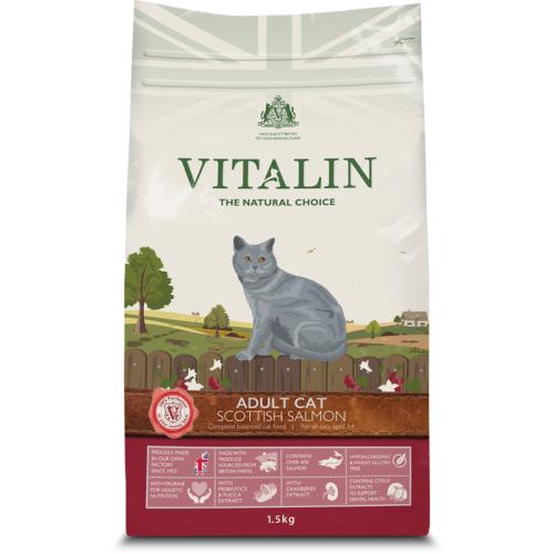 Vitalin Natural Salmon Dry Adult Cat Food