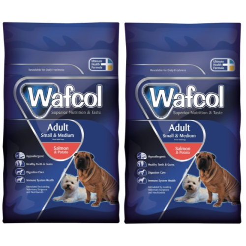 Wafcol Salmon & Potato Small & Medium Adult Dog Food 12kg x 2