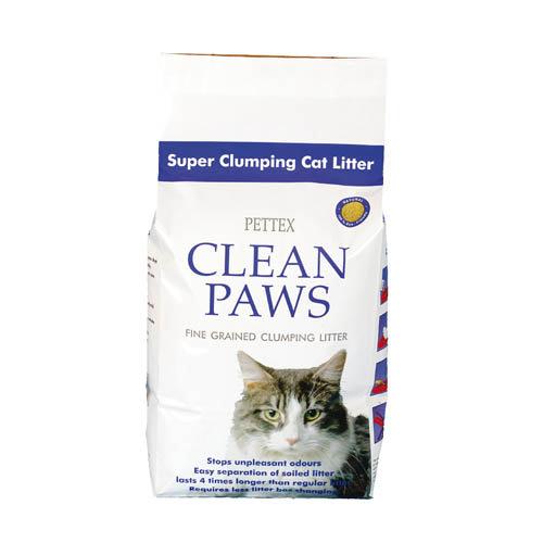 Pettex Clean Paws Super Clumping Cat Litter 15kg