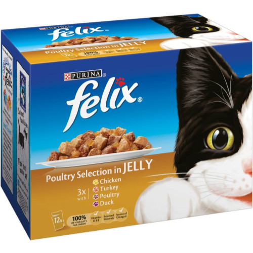 Felix Poultry Selection In Jelly Pouch Cat Food
