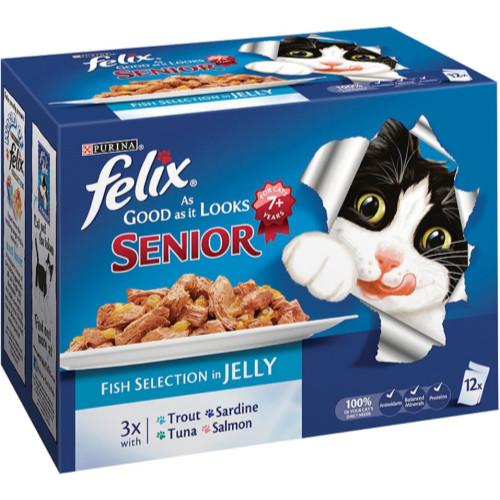 Felix As Good As It Looks Fish Selection Senior Cat Food