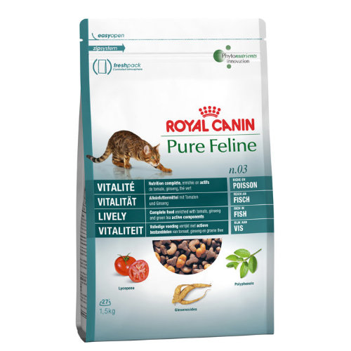 Royal Canin Pure Feline No 3 Lively Adult Cat Food 1.5kg