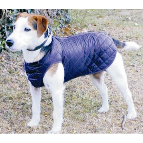 Cosipet Step In Suit Quilted Dog Rain Coat Blue 41cm / 16