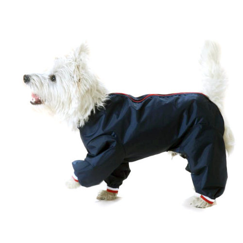 Cosipet Trouser Suit Dog Coat Navy 35cm / 14
