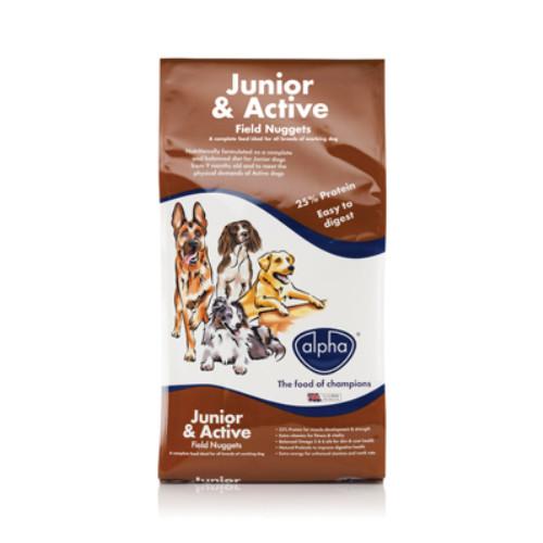 Alpha Junior & Active Field Nuggets Dog Food