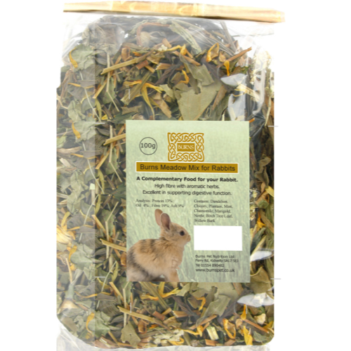 Burns Rabbit & Guinea Pig Herbs & Treats Meadow Mix 100g