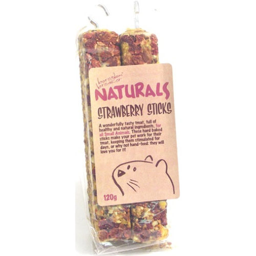 Rosewood Naturals Strawberry Sticks 120g