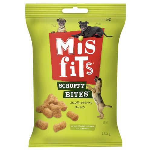 Misfits Scruffy Bites Dog Treats 180g