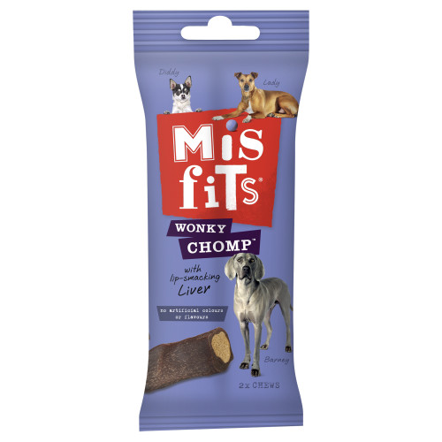 Misfits Wonky Chomps Liver Dog Chews