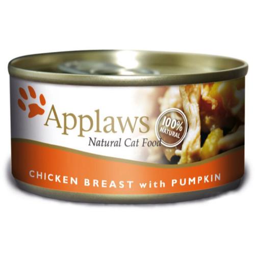 Applaws Meaty Tins Wet Cat Food 70g x 6 - Chicken with Pumpkin