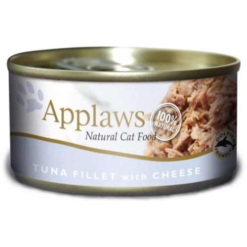 Applaws Tuna Fillet & Cheese Can Adult Cat Food 156g x 6