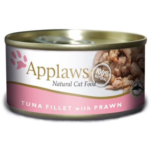 Applaws Tuna Fillet & Prawn Adult Cat Food 156g x 24