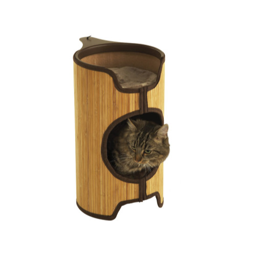 Rosewood Jolly Moggy Natural Bamboo Cat Tower