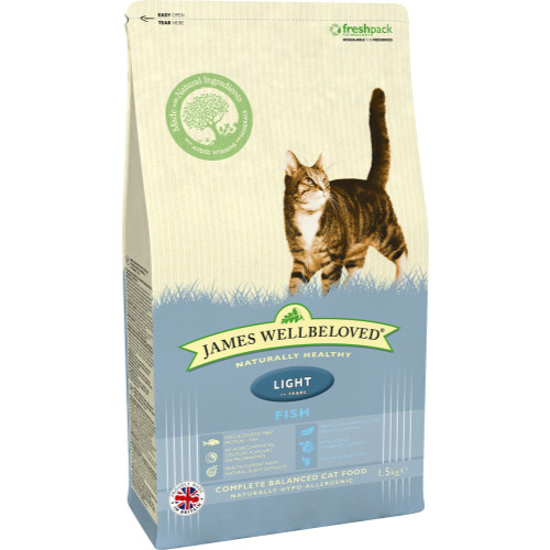 James Wellbeloved Fish Light Adult Cat Food