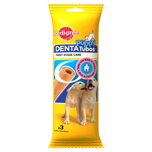 Pedigree Denta Tubos Puppy Treat 3 Sticks x 18 SAVER PACK